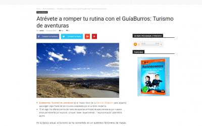 Reseña en Colaborum sobre el GuíaBurros: Turismo de aventuras